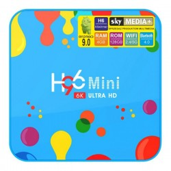 Android TV приставка Smart SKY H96 H6 6K UltraHD mini 4/128 GB