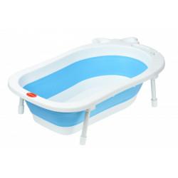 Ванночка Same Toy BabaMama складна зі зливом і ніжками блакитна