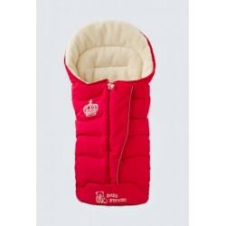 Зимовий прогулянковий конверт-плед Baby Breeze Red 80% овечої вовни на блискавки