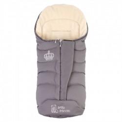 Зимовий прогулянковий конверт-плед Baby Breeze Grey 80% овечої вовни на блискавки