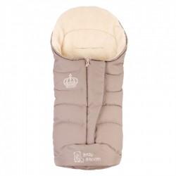 Зимовий прогулянковий конверт-плед Baby Breeze Beige 80% овечої вовни на блискавки