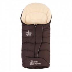 Зимовий прогулянковий конверт-плед Baby Breeze Brown 80% овечої вовни на блискавки
