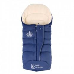 Зимовий прогулянковий конверт-плед Baby Breeze Blue 80% овечої вовни на блискавки