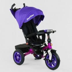 Велосипед з батьківською ручкою Best Trike сталева рама 95003046 Фіолетовий