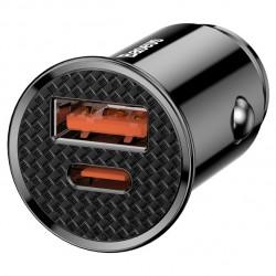 Автомобільний зарядний пристрій Baseus Circular Plastic USB Type-C PD3.0 QC4.0 Black