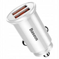 Автомобільний зарядний пристрій Baseus Circular Plastic USB Type-C PD3.0 QC4.0 White