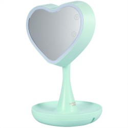 Дзеркало для макіяжу з підсвічуванням і схованкою Mindo Heart