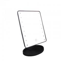 Дзеркало для макіяжу з підсвічуванням Large Magic Makeup Mirror 16 Led чорне