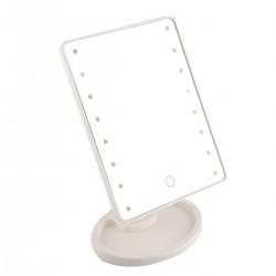 Дзеркало для макіяжу з підсвічуванням Large Magic Makeup Mirror 16 Led біле
