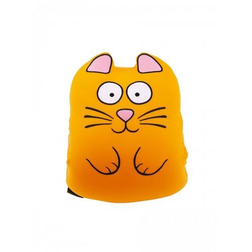 М'яка іграшка-муфта Ручний Кот Рижик 30 см з кишенями антистрес помаранчевий