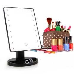 Дзеркало для макіяжу з Led підсвічуванням Large Led Mirror 16 Led Чорний