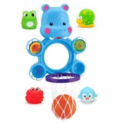 Іграшка для купання баскетбол Бегемот Junsun сітка м'ячик 4 пирскавки