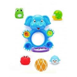 Іграшка для купання баскетбол Слон Junsun сітка м'ячик 4 пирскавки