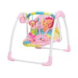 Гойдалки дитячі електронні Mastela jungle pink shackles