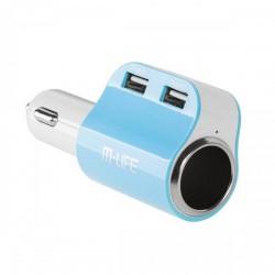 Автомобільний зарядний пристрій M-Life (ML0690) 2xUSB, 3,1/1A