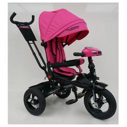 Велосипед багатоцільовий TURBOTRIKE М5448HA регульована спинка Рожевий