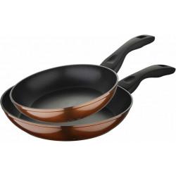 Набір 2 сковороди Bergner Neon Bronze 22см і 26см з антипригарним покриттям