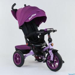 Велосипед з батьківською ручкою Best Trike сталева рама 95002518 Бузковий