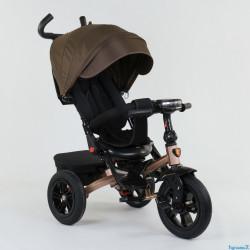 Велосипед з батьківською ручкою Best Trike сталева рама 95002620 Коричневий