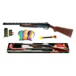 Іграшкова рушниця на кульці Edison Giocattoli Mike Peterson 87см 12-зарядний з мішенню (427/24)