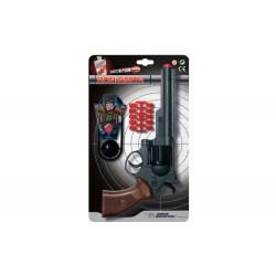 Іграшковий пістолет на кульці Edison Giocattoli Ron Smith 28см 8-зарядний з мішенню (463/33)