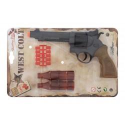 Іграшковий пістолет Edison Giocattoli West Colt 28см 8-зарядний з мішенню і кульками (465/32)