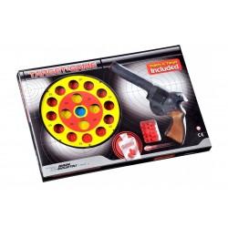 Іграшковий пістолет з мішенню Edison Giocattoli Target Game 28см 8-зарядний (485/22)