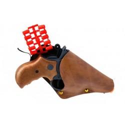 Іграшковий пістолет з кобурою Edison Giocattoli Derek Steel 19см 6-зарядний (571/23)